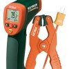 Wide Range IR Thermometer with Type K input and Pipe Clamp TES-42515-T